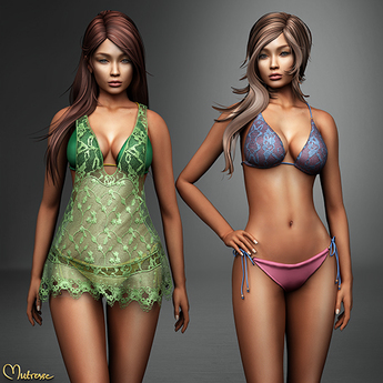 Mutresse - Lilana Swimsuit and Tunic - 20 Colors for Slink/Maitreya/Belleza