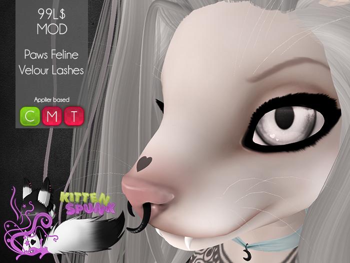 +KS+ Paws Feline Velour Lashes