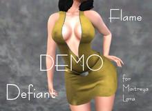 Defiant-flame-Zipper dress-DEMO