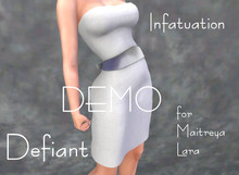 Defiant-infatuation-tube top dress w/bow-DEMO