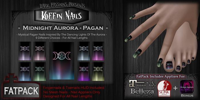 DP - Koffin Nails - FatPack - Midnight Aurora - Pagan