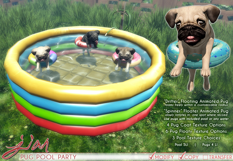 JIAN Pool Party Puppers :: Pug