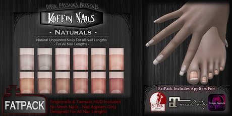 DP - Koffin Nails - FatPack - Naturals