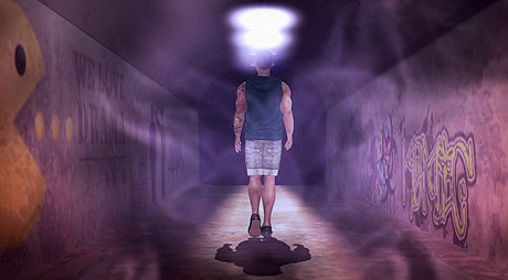 *cm* Underground tunnel mesh photography Backdrop