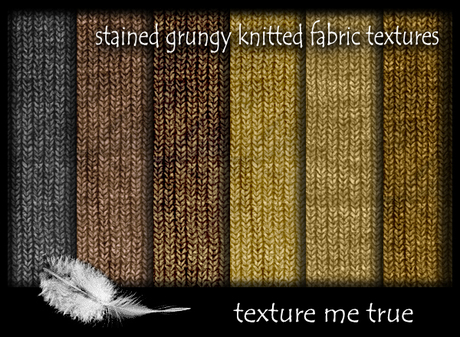 stained grungy knitted fabric texture pack