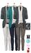 GIZ SEORN - Owen Blazer Suit [Smoke-Aqua].