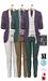 GIZ SEORN - Owen Blazer Suit [Green-Purple].