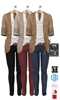 GIZ SEORN - Owen Blazer Suit [Cream-Camel].