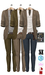 GIZ SEORN - Owen Blazer Suit [Beige-Olive].
