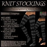 ~JJ~ Knit Stockings (grey)