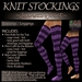 ~JJ~ Knit Stockings (violet)