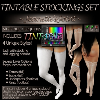 ~JJ~ Tintable Stockings Collection
