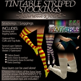 ~JJ~ Tintable Striped Stockings