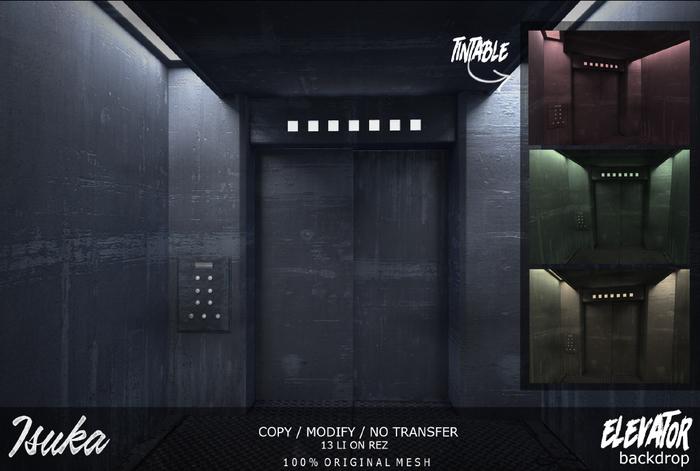 [ isuka ] elevator backdrop [wear me]