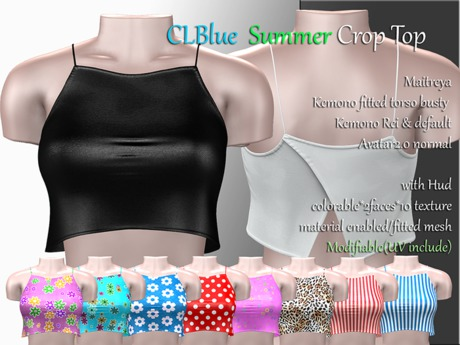CLBlue-Summer Crop Top