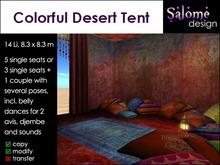 Colorful Desert Tent - only 14 Li