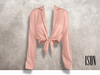 ISON - yso tied shirt (pink)