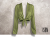 ISON - yso tied shirt (sage)