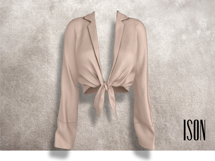 ISON - yso tied shirt (tan)