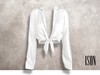 ISON - yso tied shirt (white)