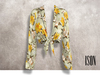 ISON - yso tied shirt (yellow floral)