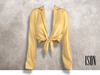 ISON - yso tied shirt (yellow)