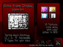{T.t} Eloise Frame Display + Lights Art