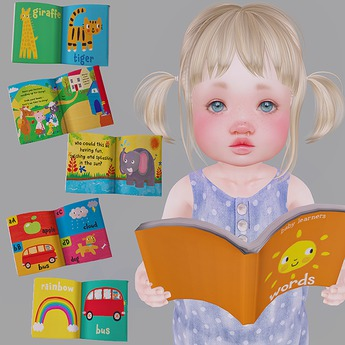 LeMomo: Toddler Book w Poses [ToddleeDoo] GIFT!