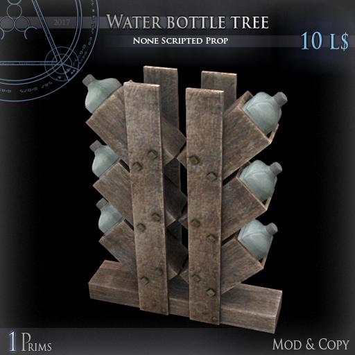 (Box) Water bottle tree
