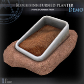(Demo) Block sink turned planter