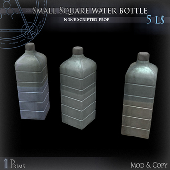 (Box) Small Square water bottle