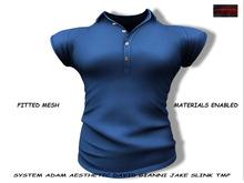 [F] Stan Polo Shirt - Navy - Fitmesh