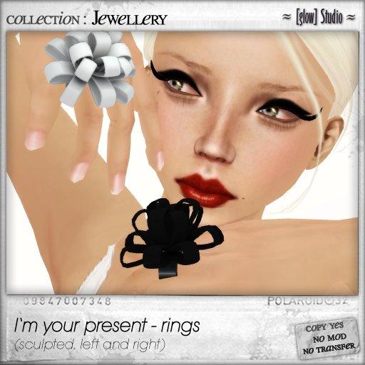 [ glow ] studio - I'm your present rings