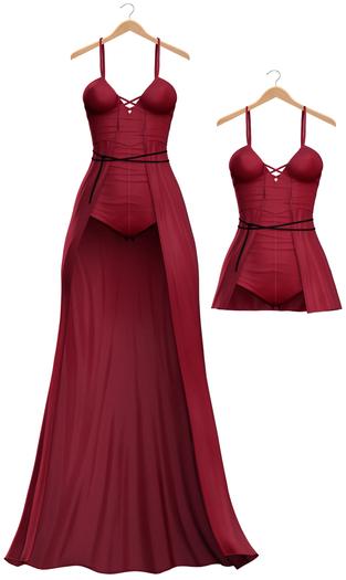 Blueberry - BerryDoll Dress - Maitreya, Belleza (All), Slink Physique Hourglass - ( Mesh ) - Red