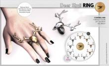 GIFT ^^Swallow^^ Deer Skull Bento Ring (WEAR)