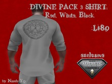 NY Shirt - DIVINE PACK 3 SHIRT: Red, White, Black