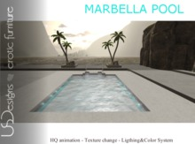 NEW!!! USDesigns Marbella swimming pool - Animated pool without poseballs
