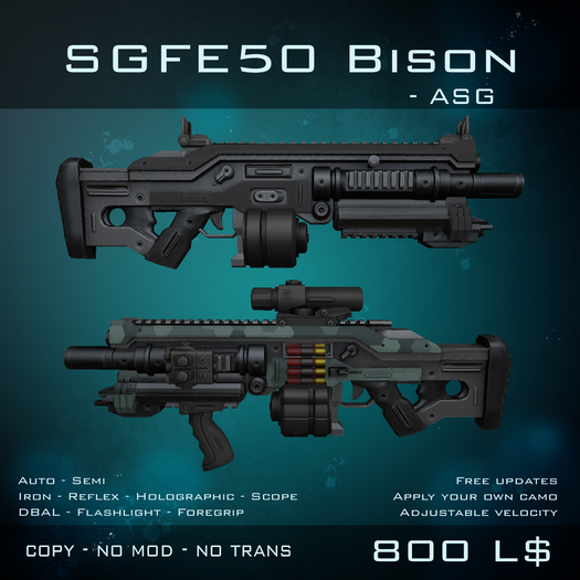 [BW] SGFE50 Bison - Full Auto Shotgun