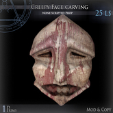 (Box) Creepy Face carving