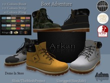 .::Arkan::. Boots  Male Flat Adventure TMP&Slink&Unrigged