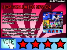Item Evaluator System / Product Voting System