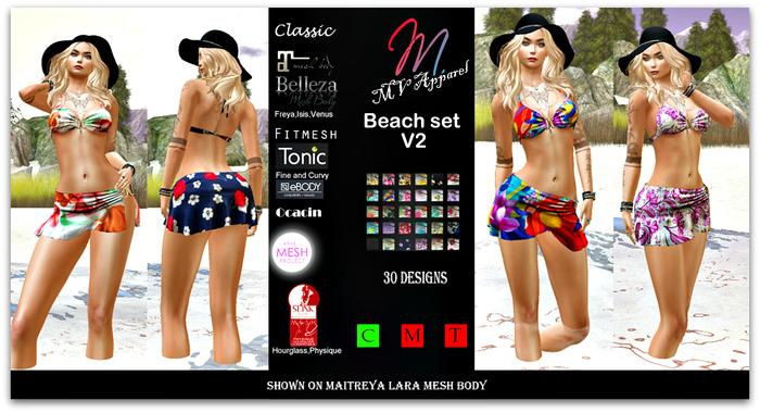 Beachset V2, Belleza, classic, Ebody, fitmesh,  Maitreya, Ocacin, Slink, TMP, tonic