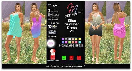 Ellen dress V1.1,Belleza, classic, Ebody, fitmesh,  Maitreya, Ocacin, Slink, TMP, tonic