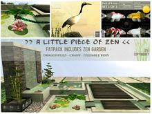 Zen, pond, crane, kois