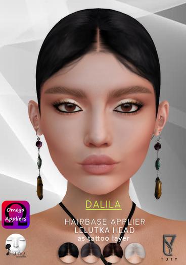 Tuty Dalila Hairbase  Applier Lelutka Heads Dark BOM