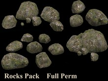 Rocks Brown Pack - Mesh - Full Perm