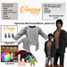 AmAzINg CrEaTiOnS Open Grey Men Formal Blazer  Jacket (CH).Promo price!