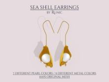 .: Runic :. Sea Shell Earrings
