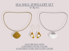 .: Runic :. Sea Shell Jewellery Set