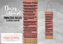 Babygirl&Daddytoo!:Princess Rules Hanging Board boxed